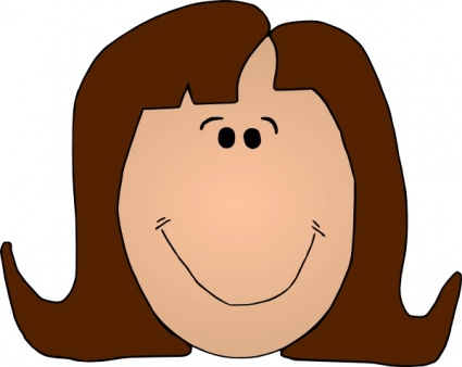 Woman Smiley Face Clipart.
