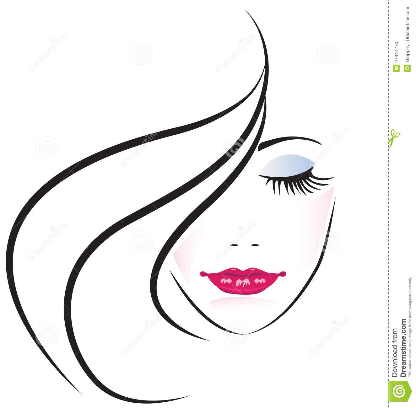 Clipart Woman Face.