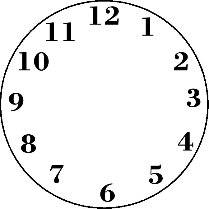 clock clipart black and white png - Clipground