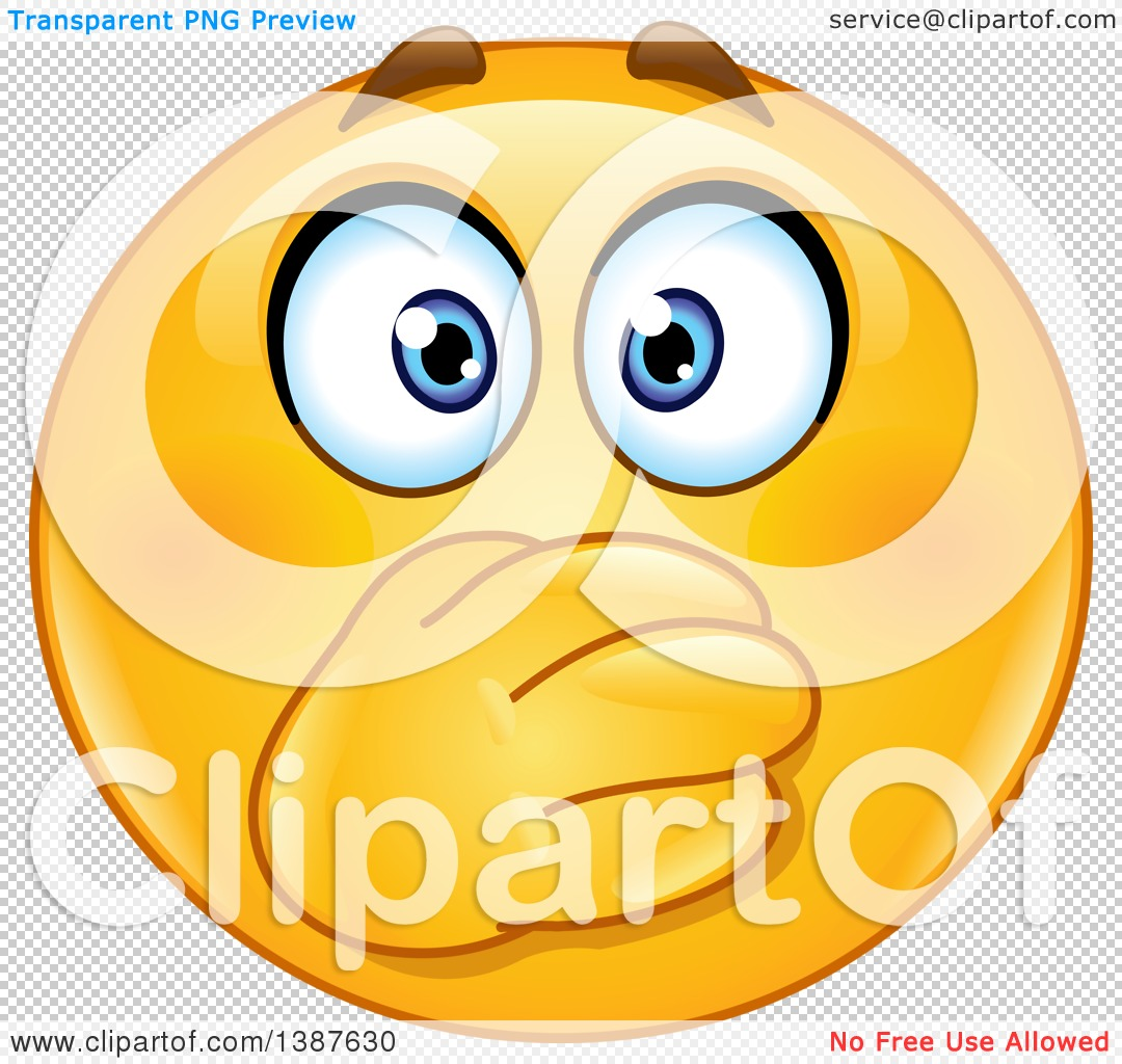 Clipart of a Cartoon Yellow Smiley Face Emoji Emoticon Covering.
