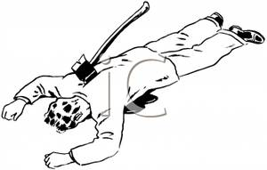 Man face down clipart.