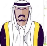 Face for arabic man clipart.