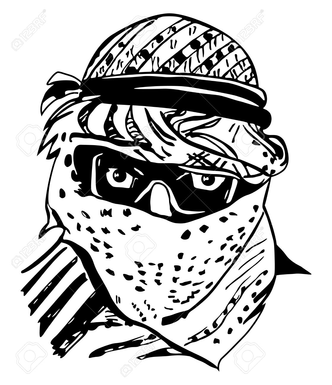 Face For Arabic Man Clipart.