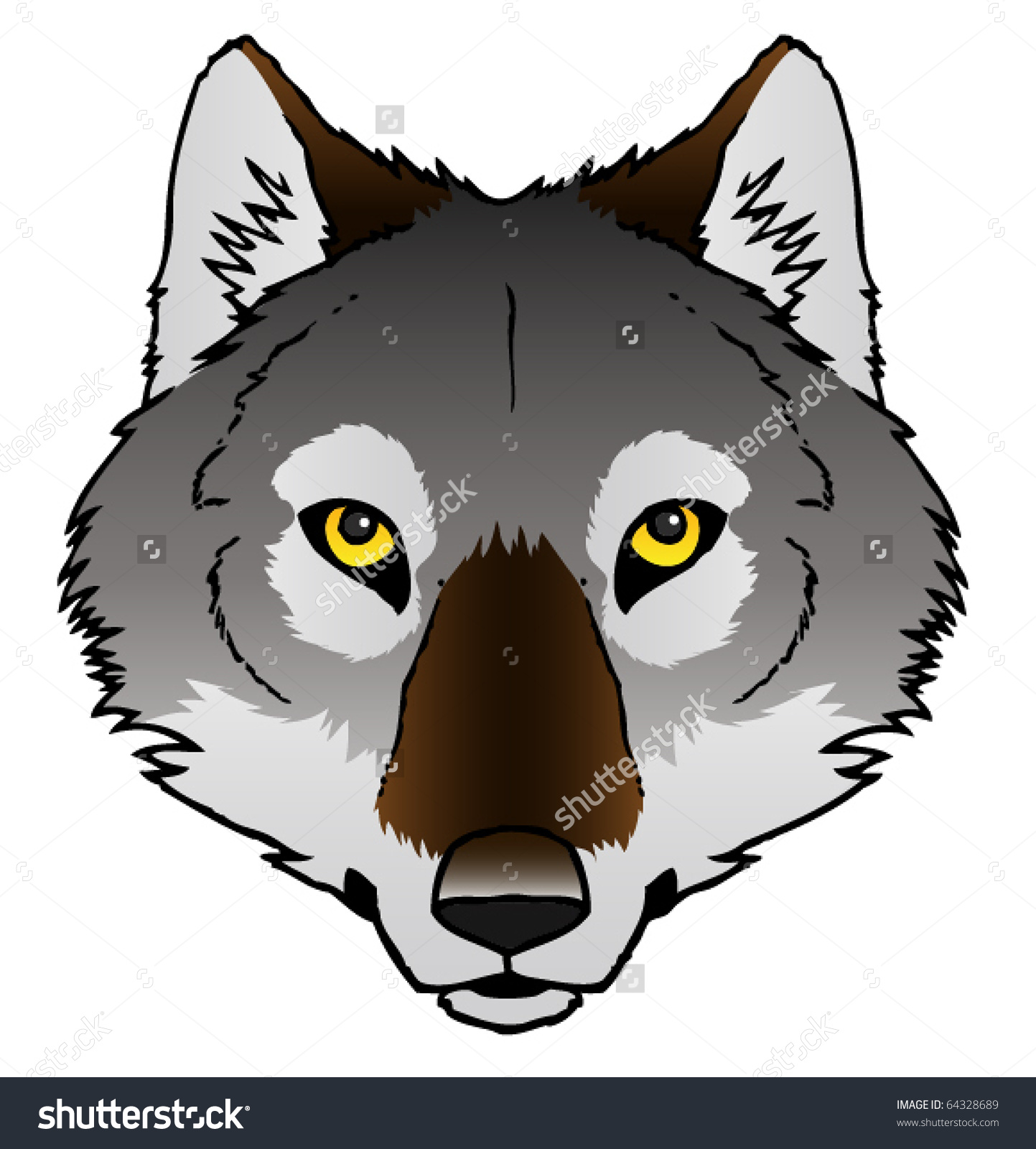 Gray Wolf Howling Drawing wolf in chimney clipar...