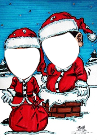 Christmas Card couple.