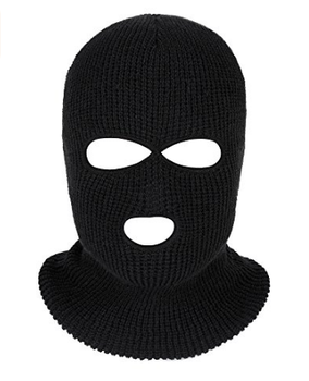 Winter Ski Face Covered 3 Hole 2 Hole Knitted Warm Balaclava.