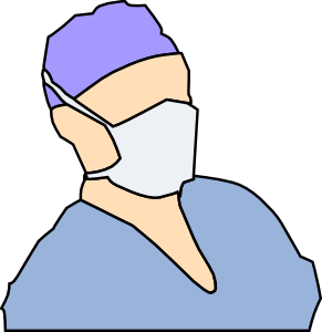 Doctor Wearing Sanitary Mask Clip Art at Clker.com.