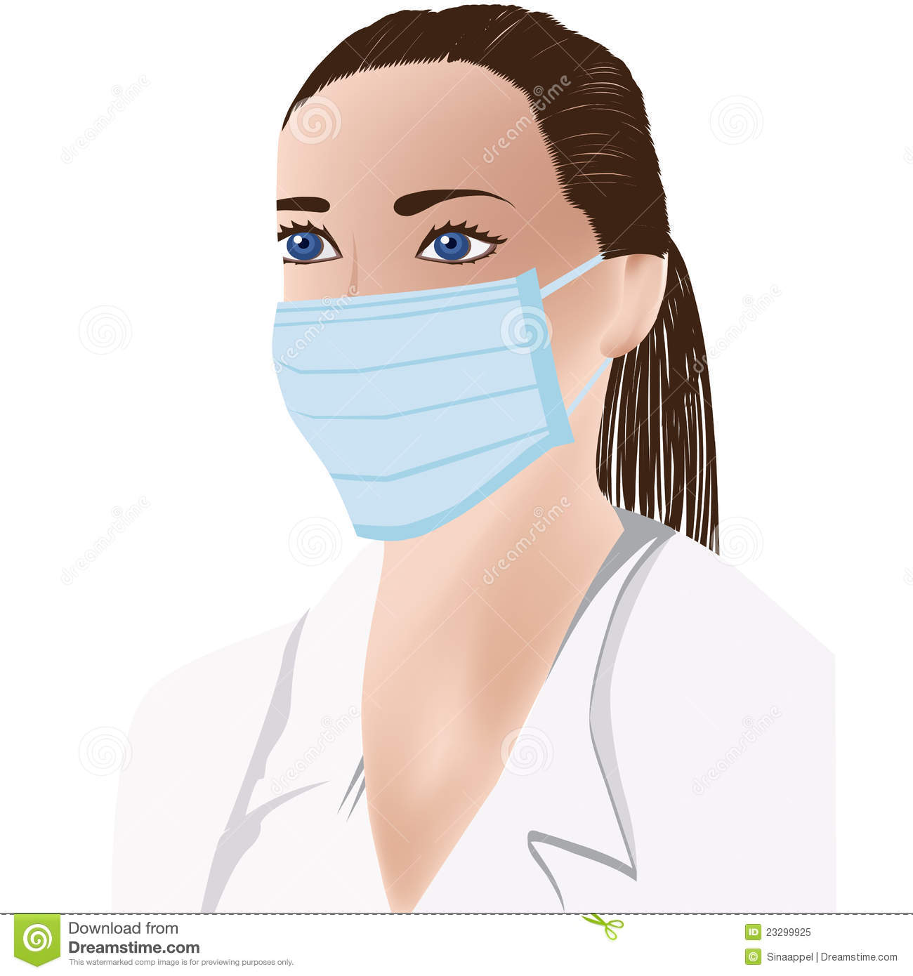 Female Doctor With Medical Mask On Face Royalty Free Stock Photo.