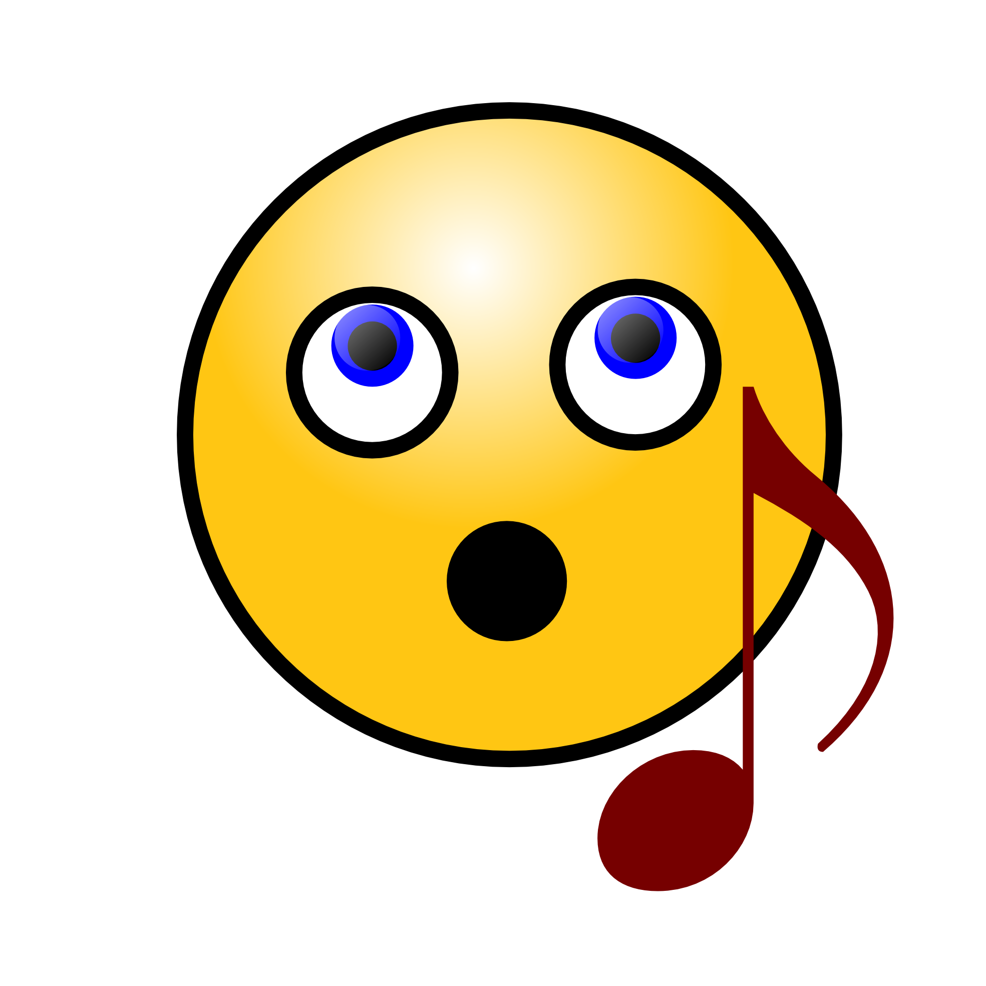 Face Of Boy Singing Clipart.