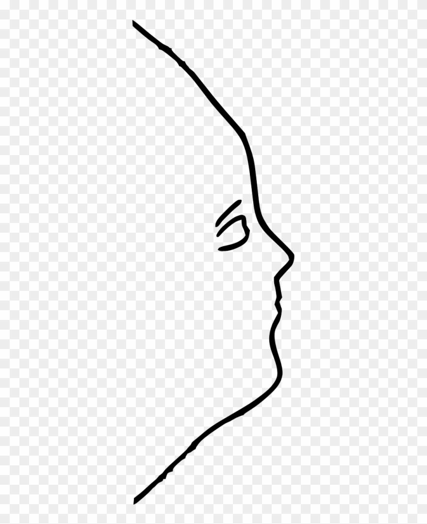 Face Outline Side Clipart (#1592502).