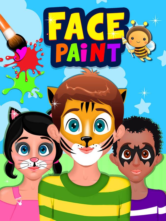 Painted Faces Clipart Clipground
