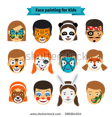Clip art face painting.