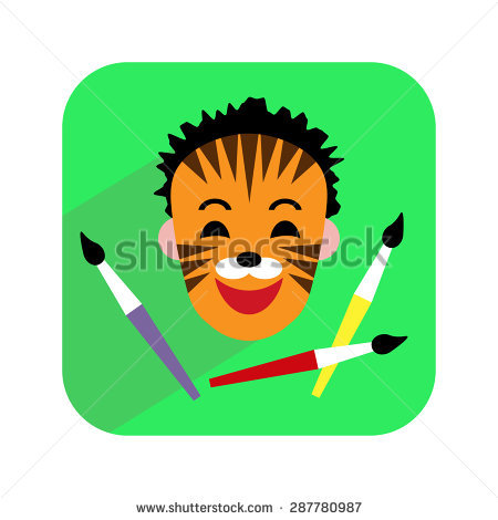 Face painting free vector download.