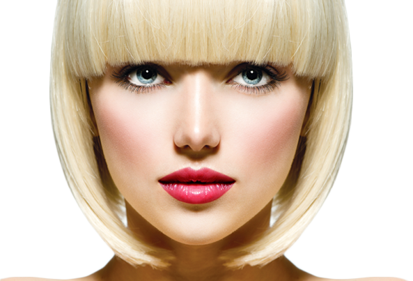 Blonde Women Face PNG.