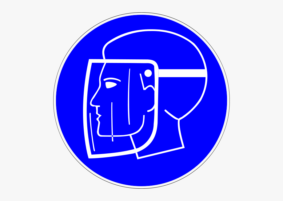 Man Wearing Protective Face Shield Clipart.