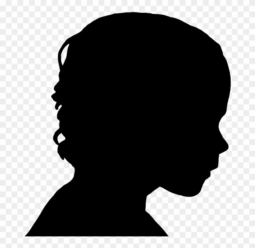 Boy Face Silhouette.