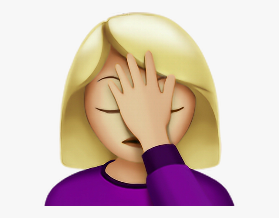 face #facepalm #emoji #woman #girl #facepalmemoji.