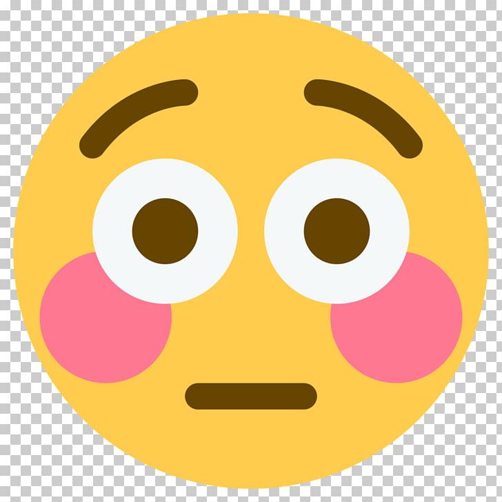 Emoji Blushing Flushing Face Sticker, blushing emoji PNG.