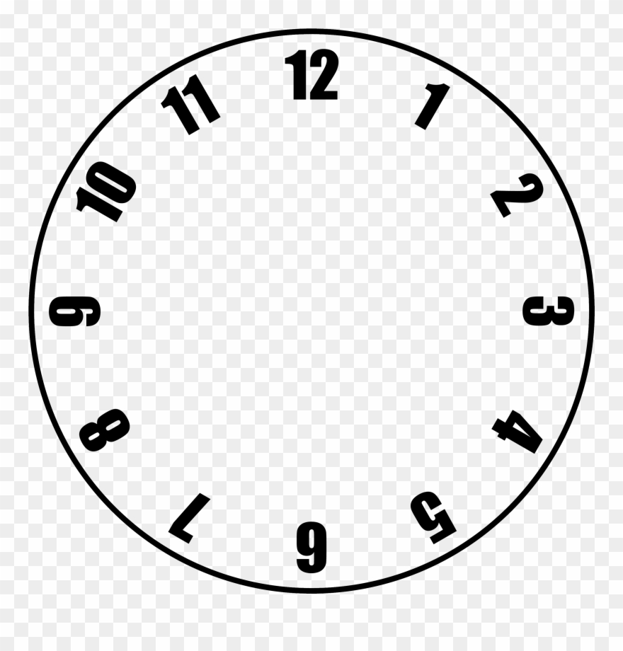 Free Clock Face Template.