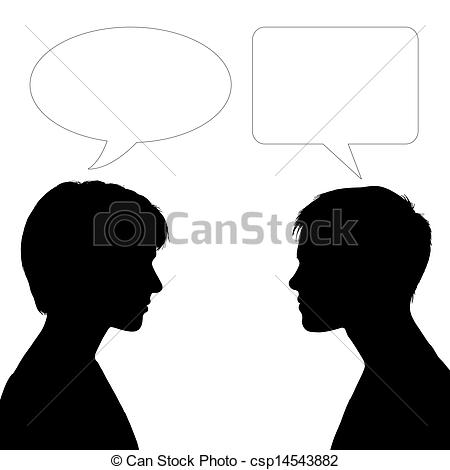 Face to face clipart.