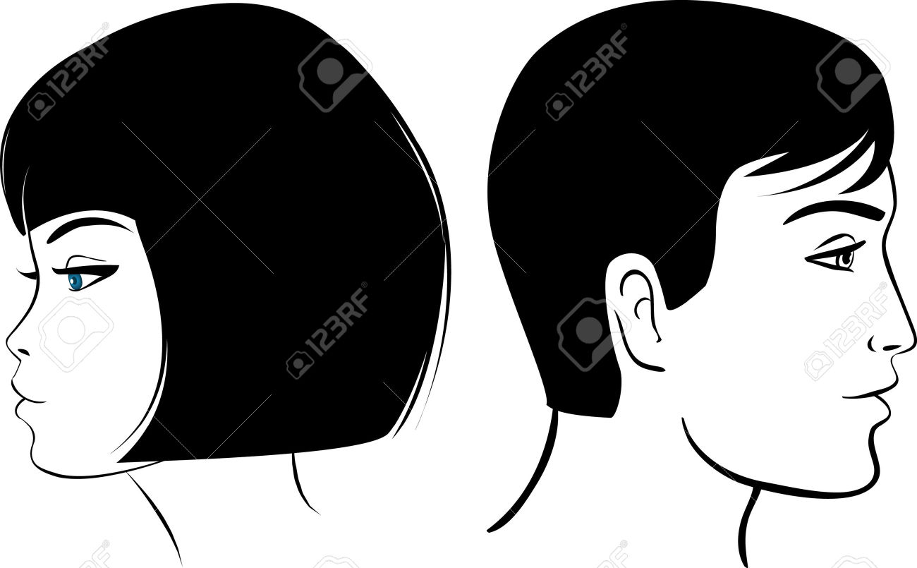 Face Man And Girl Vector Illustration Colorful Clipart Royalty.