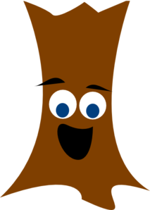Tree Trunk With Face Clip Art at Clker.com.