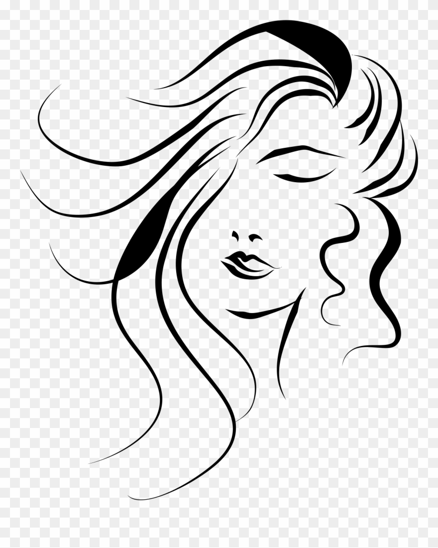 Girl Face Vector Png Clipart (#39082).
