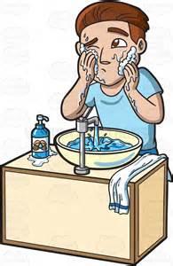 Similiar Cartoon Boy Washing Face With Rag Keywords.