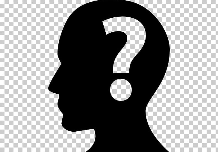 Human Head Question Mark PNG, Clipart, Black And White, Clip.