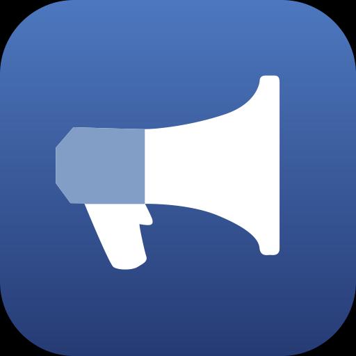 Facebook ads, facebook marketing, marketing icon.