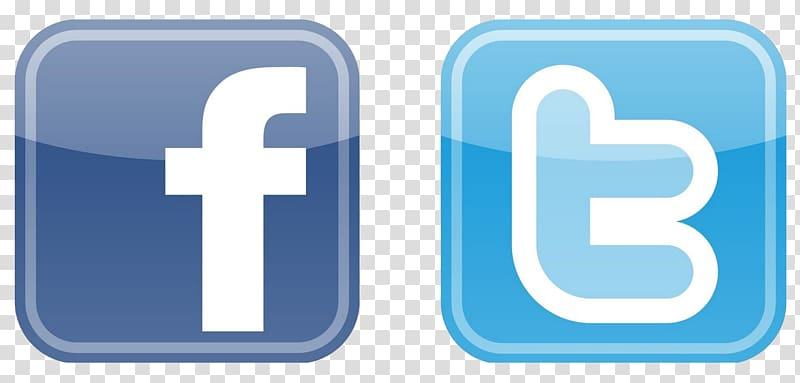 Facebook and Twitter logos, Facebook Logo Computer Icons.