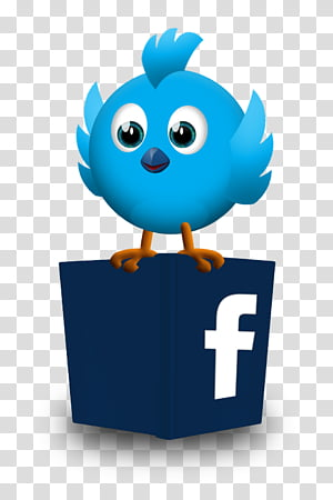 Twitter And Facebook Together Logo transparent background.