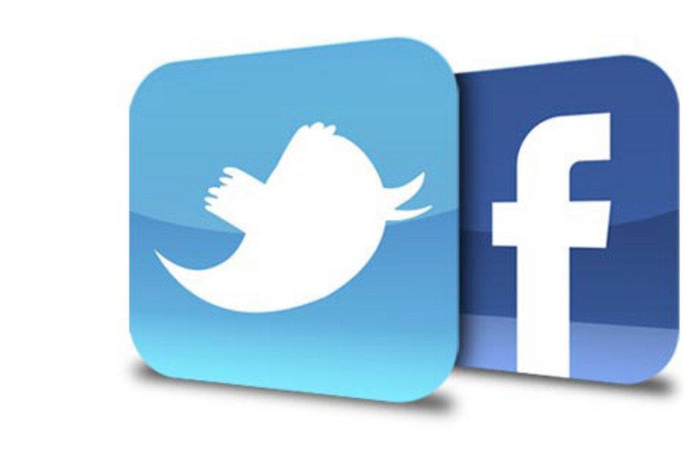 facebook twitter logo.