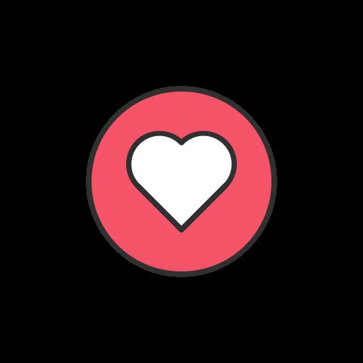 Emoji, facebook, heart, love icon.