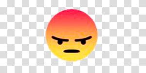 FACEBOOK RECCIONES LUPISHA, Angry facebook emoji transparent.