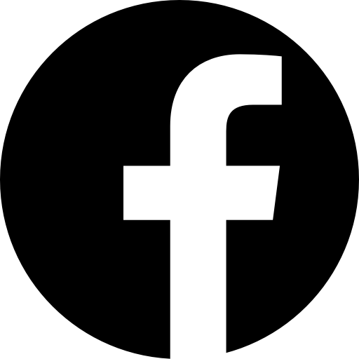 App, b/w, facebook, logo, media, popular, social icon.