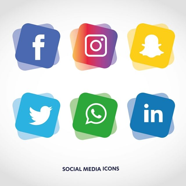 Social Media Icons Set Logo Vector Illustrator, Social.