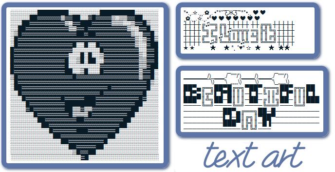 Facebook Text Art (ASCII Art).