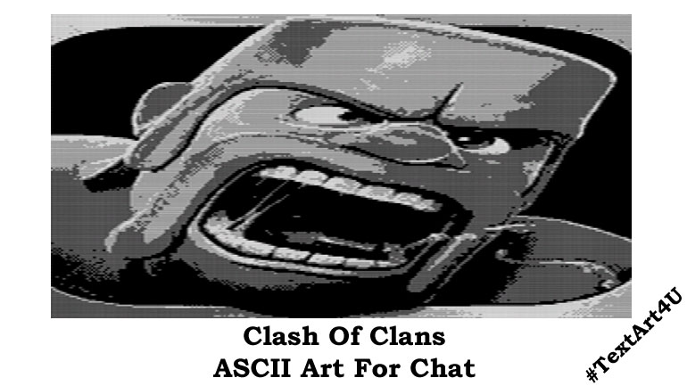 Chat Art For Clash Of Clans Game Copy & Fun.