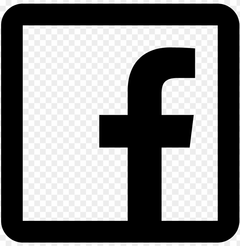 facebook logo transparent black and white PNG image with.