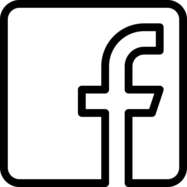 HD Black And White Facebook Logo Png Transparent Background.