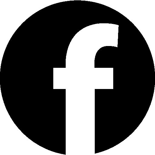 Facebook logo in circular shape Icons.