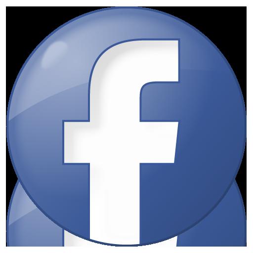 Social facebook button blue Icon.