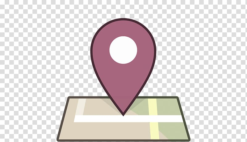 Purple map marker, Facebook Location Foursquare Like button.