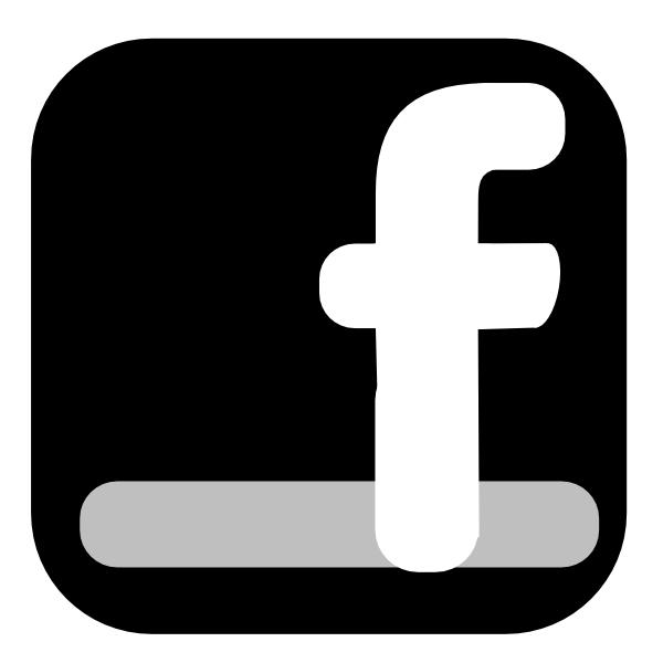 Black Facebook Icon Clipart.