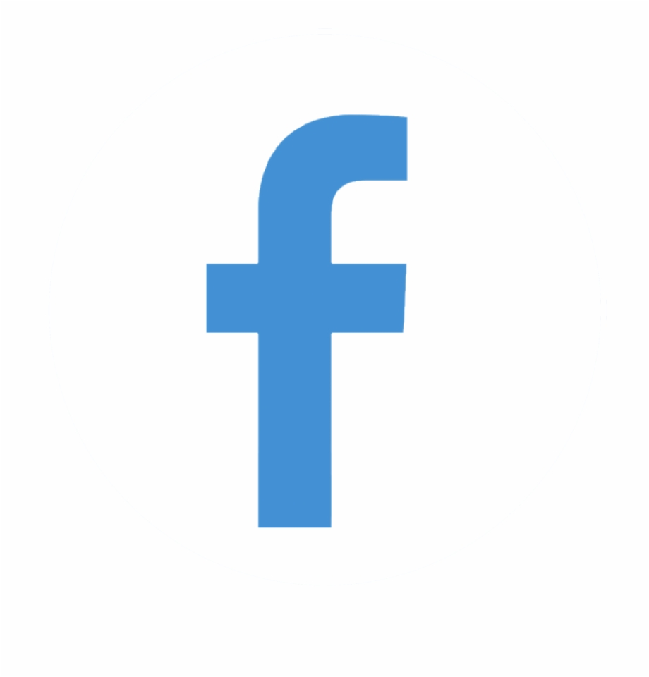 Facebook Icon White Round Transparent White Facebook Circle.