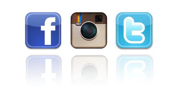 Facebook Twitter Instagram Clipart.