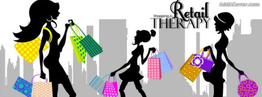 Retail Therapy Facebook Cover.