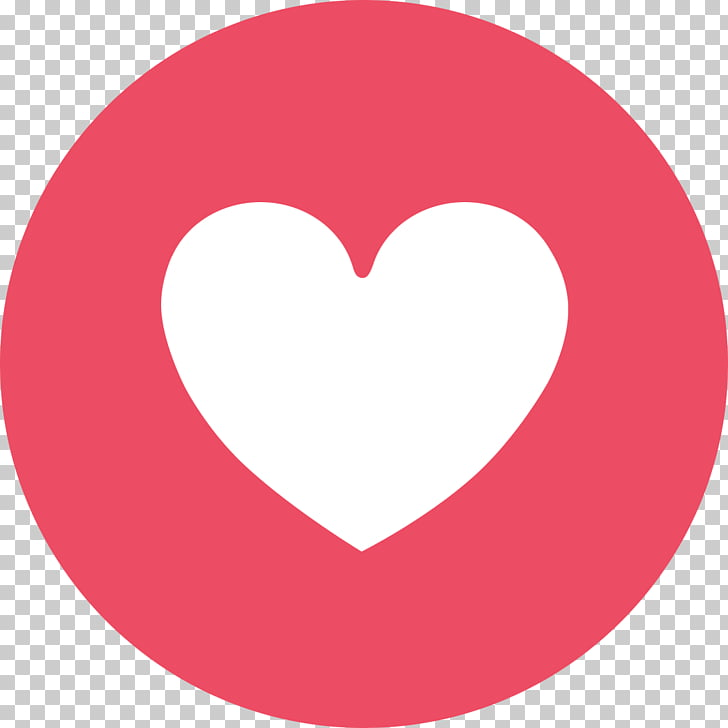 Facebook Messenger Like button, emoji face, heart logo PNG.