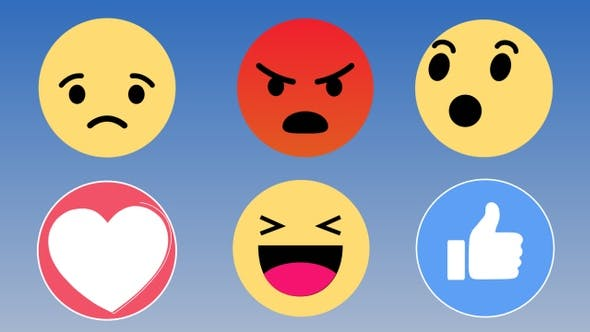 Facebook Emoticons Reactions Pack 4K by nicartoon.